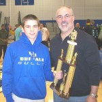 Illio DiPauolo Memorial Outstanding Wrestler Award  Dylan Caruana - Kenmore West  ( shown with Mike DiPauolo )